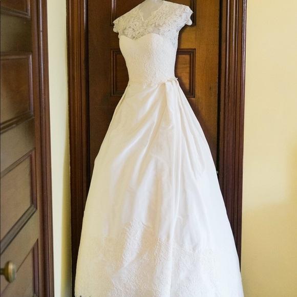 Judd Waddell Lace & Taffeta Wedding Gown
